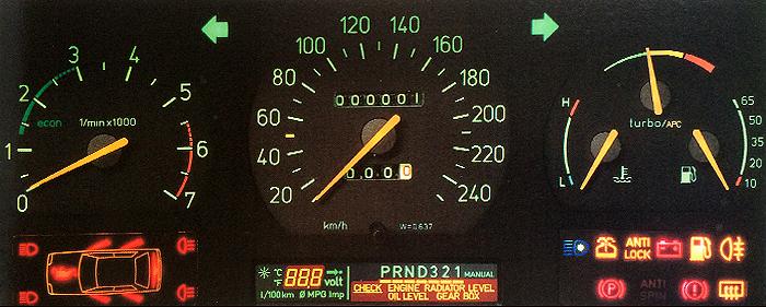 Saab 9000 Instrument Cluster